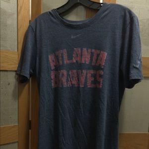 Nike- Atlanta Braves t-shirt. Small. Charcoal